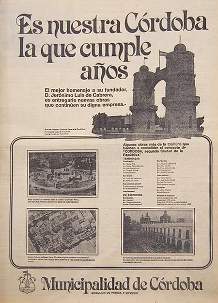 Publicidad en el diario La Voz del Interior - 5 de julio de 1980