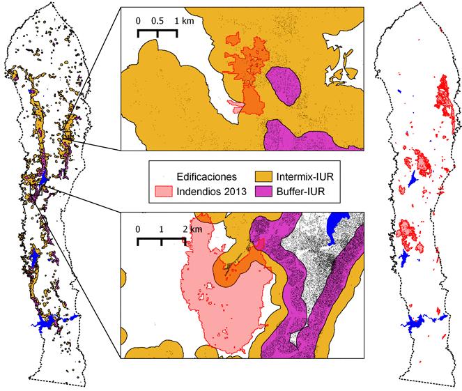 Mapa de interfase urbano-rural