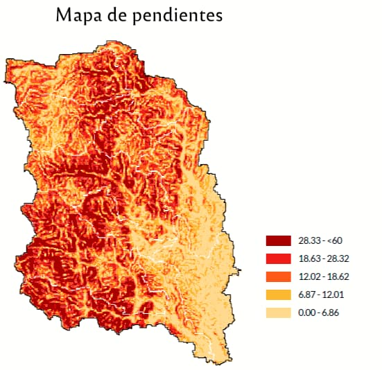 Mapa de pendientes