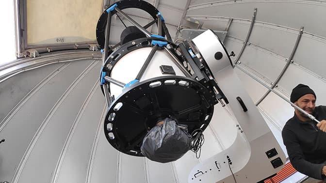 Ajustes finales al telescopio de TOROS