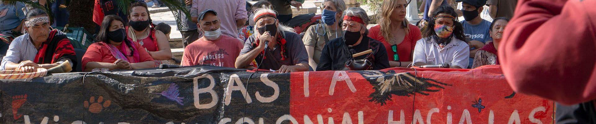 Caminata de pueblos indígenas contra la violencia