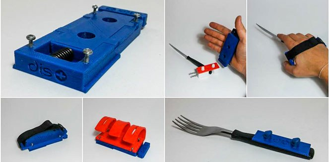 Diseñan un kit que se imprime en 3D y ayuda a personas con problemas de movilidad en sus manos